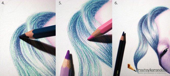 Как сделать цветное фото в карандаше