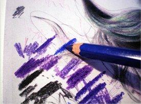 Портрет цветными карандашами, Урок от Milica Pavlovic