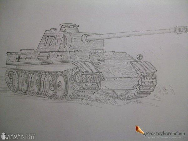 Как рисовать <em>танк</em> танк из World of tanks