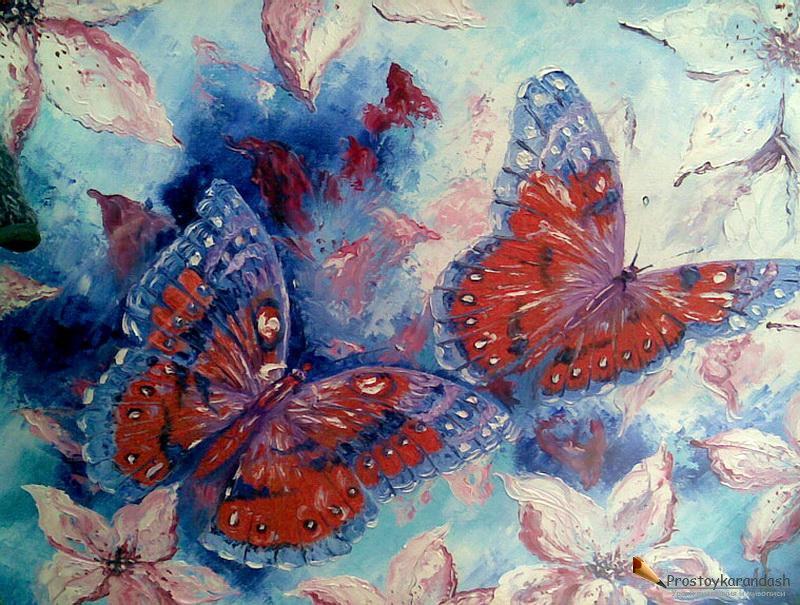 Бабочки в лилиях художник алексеенко