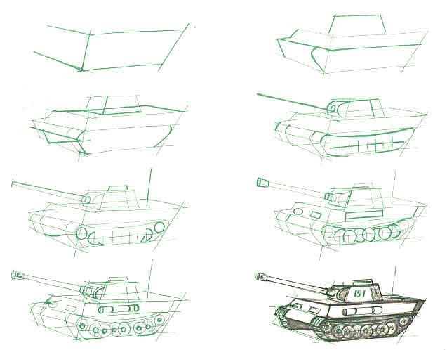 Нарисовать рисунок про войну поэтапно 74