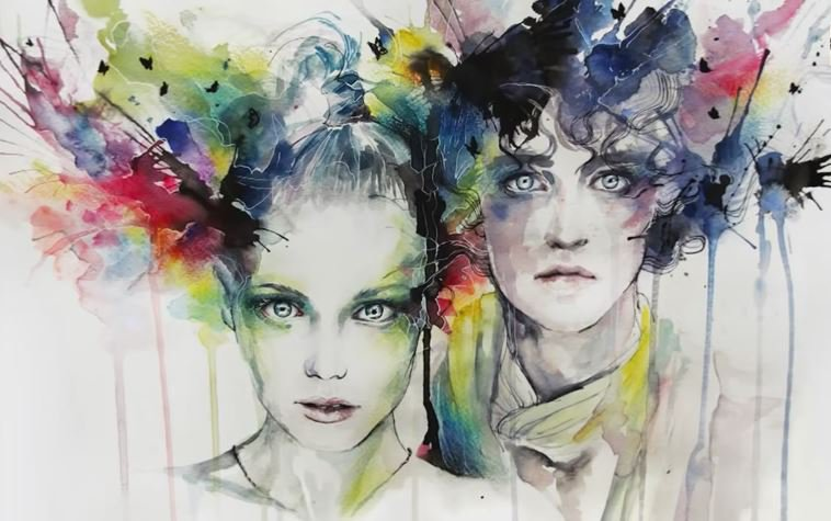 ����� ����������� �������� �gnes �ecile watercolor Speed Painting