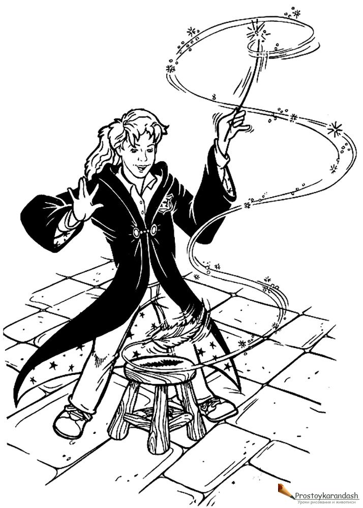 Раскраски Гарри Поттер » Как рисовать поэтапно. Уроки ...
