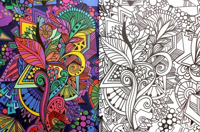 Раскраска антистресс как раскрашивать красиво